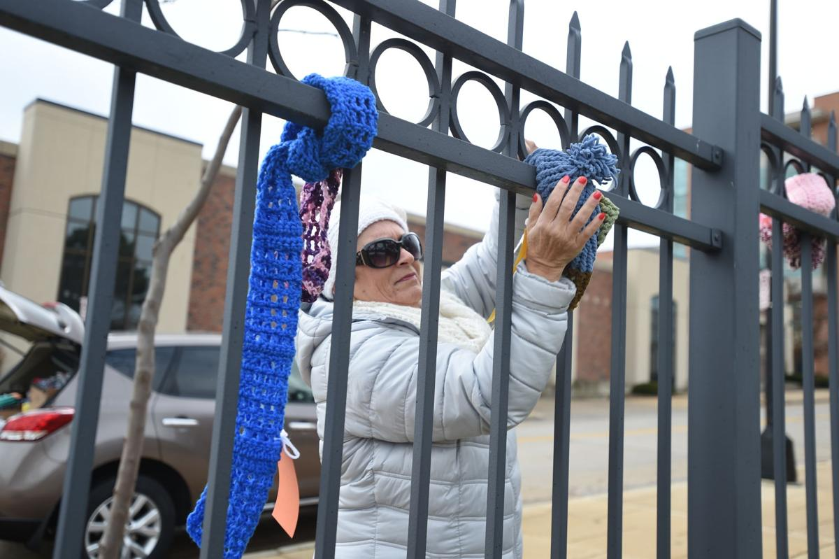 Racine County dispatchers crochet scarves for the homeless