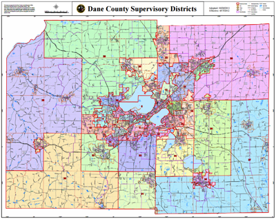 Dane County district map