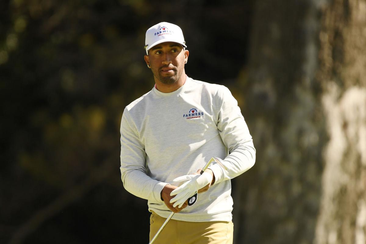 Willie Mack III on the 12th hole during the first round of The Genesis Invitational at Riviera Country Club in Pacific Palisades, California, on Thursday, Feb. 18, 2021.