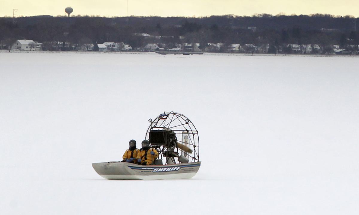 Airboat  on Lake Monona