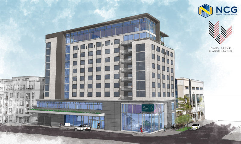 North Central Group hotel proposal rendering