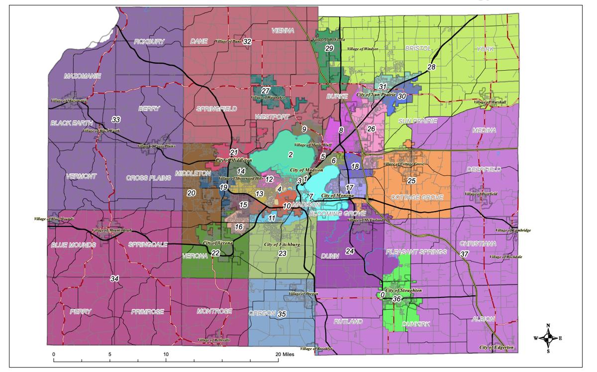 Dane County redistricting Option G