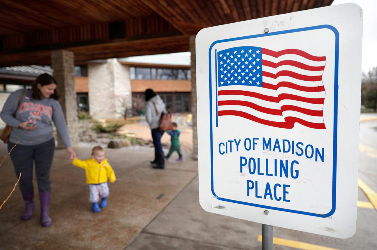 City of Madison polling place, voting, State Journal generic file photo
