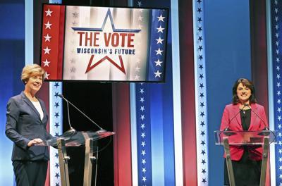 Tammy Baldwin, Leah Vukmir debate, AP photo (copy)