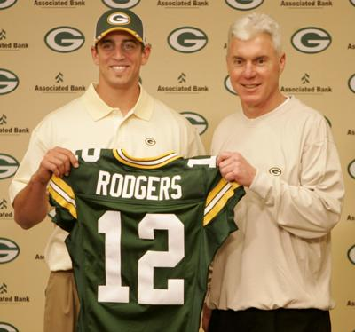 Ted Thompson, Aaron Rodgers 2005 draft, AP generic file photo