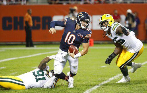Preston Smith sacks Mitchell Trubisky, AP photo
