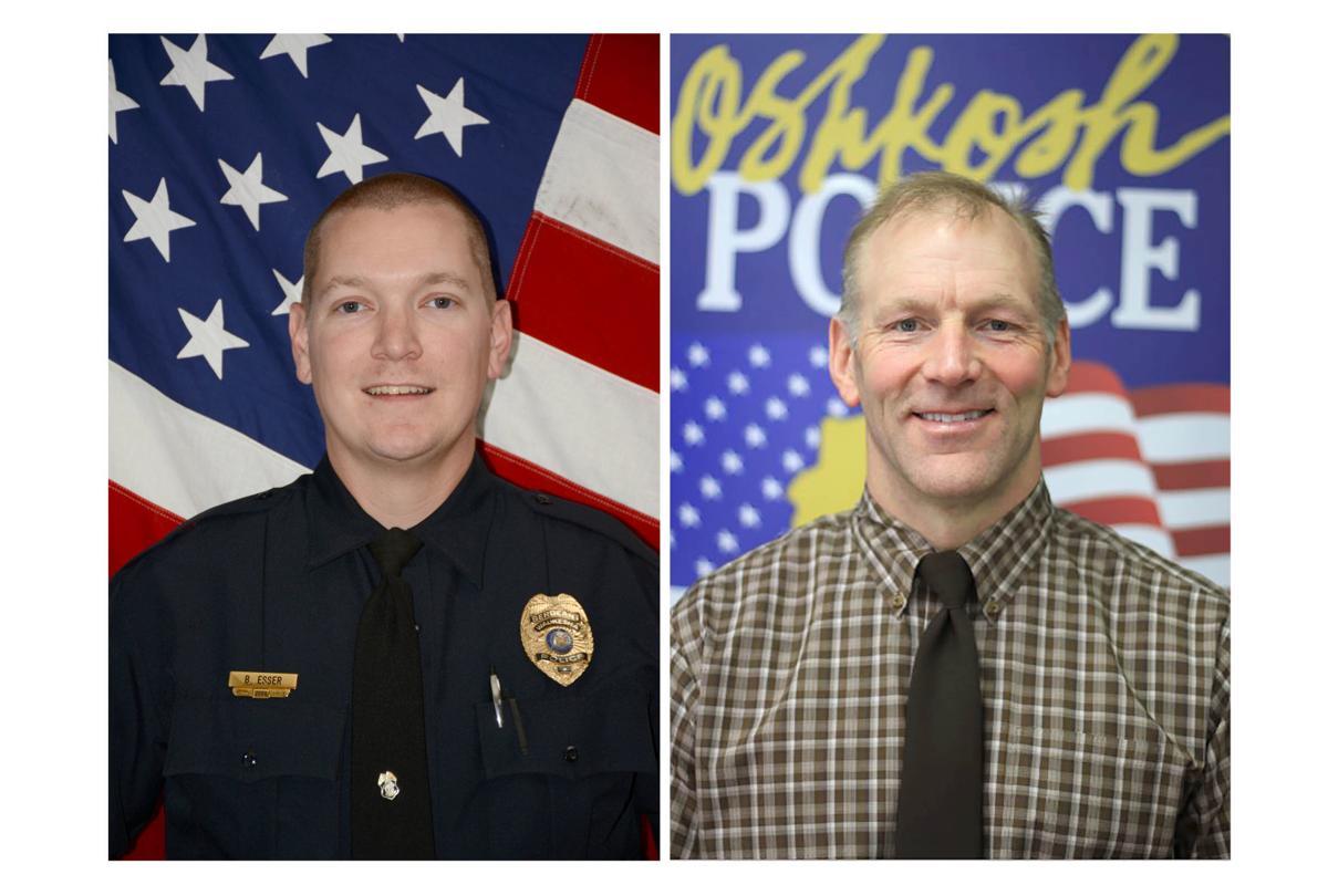 Waukesha police Sgt. Brady Esser, Oshkosh police Resource Officer Mike Wissink