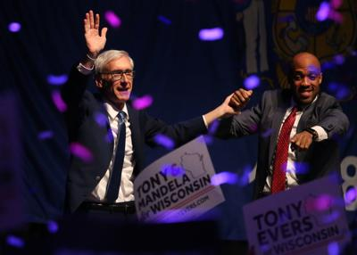 Tony Evers claims victory early Wednesday (copy)