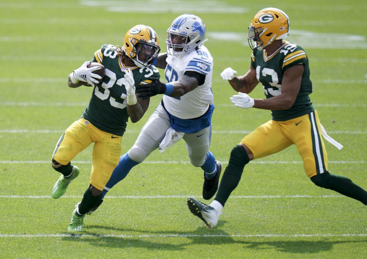 Aaron Jones - Packers vs. Lions