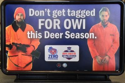 Gas pump signs remind deer hunters to drive sober