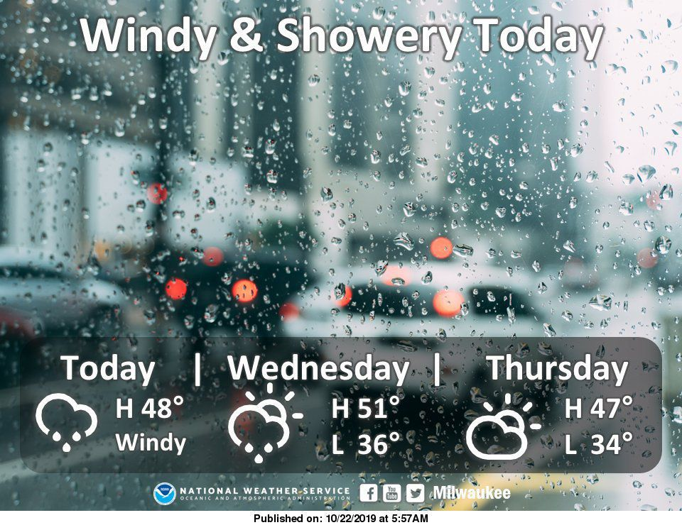 National Weather Service forecast graphic 10-22-19