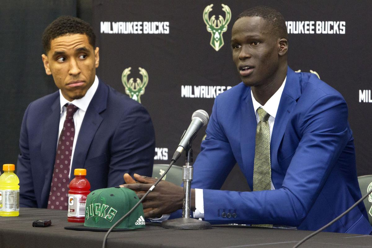 Thon Maker post draft press conference, Milwaukee Journal Sentinel via AP photo