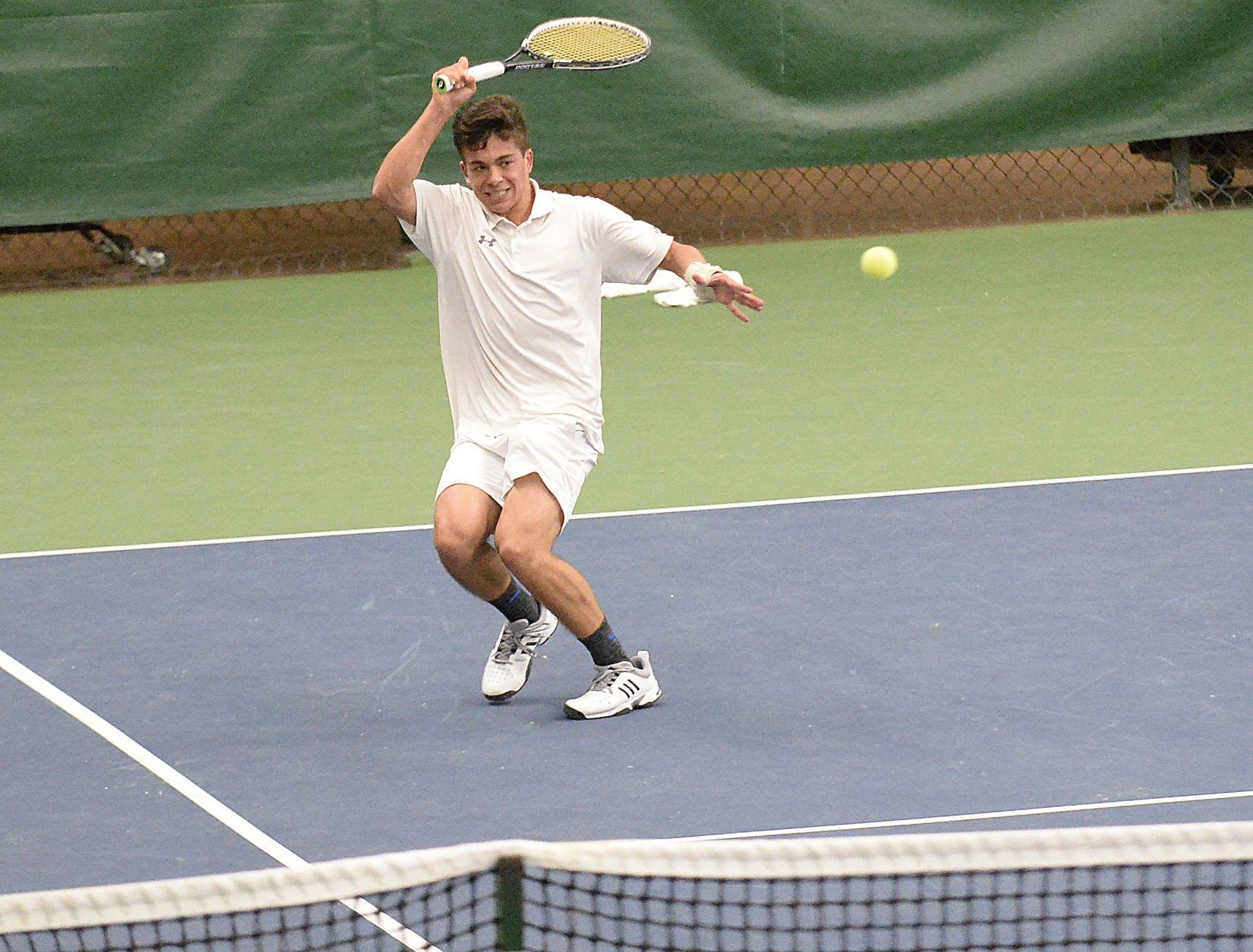WIAA boys tennis photo: Monona Grove's Cole Lindwall