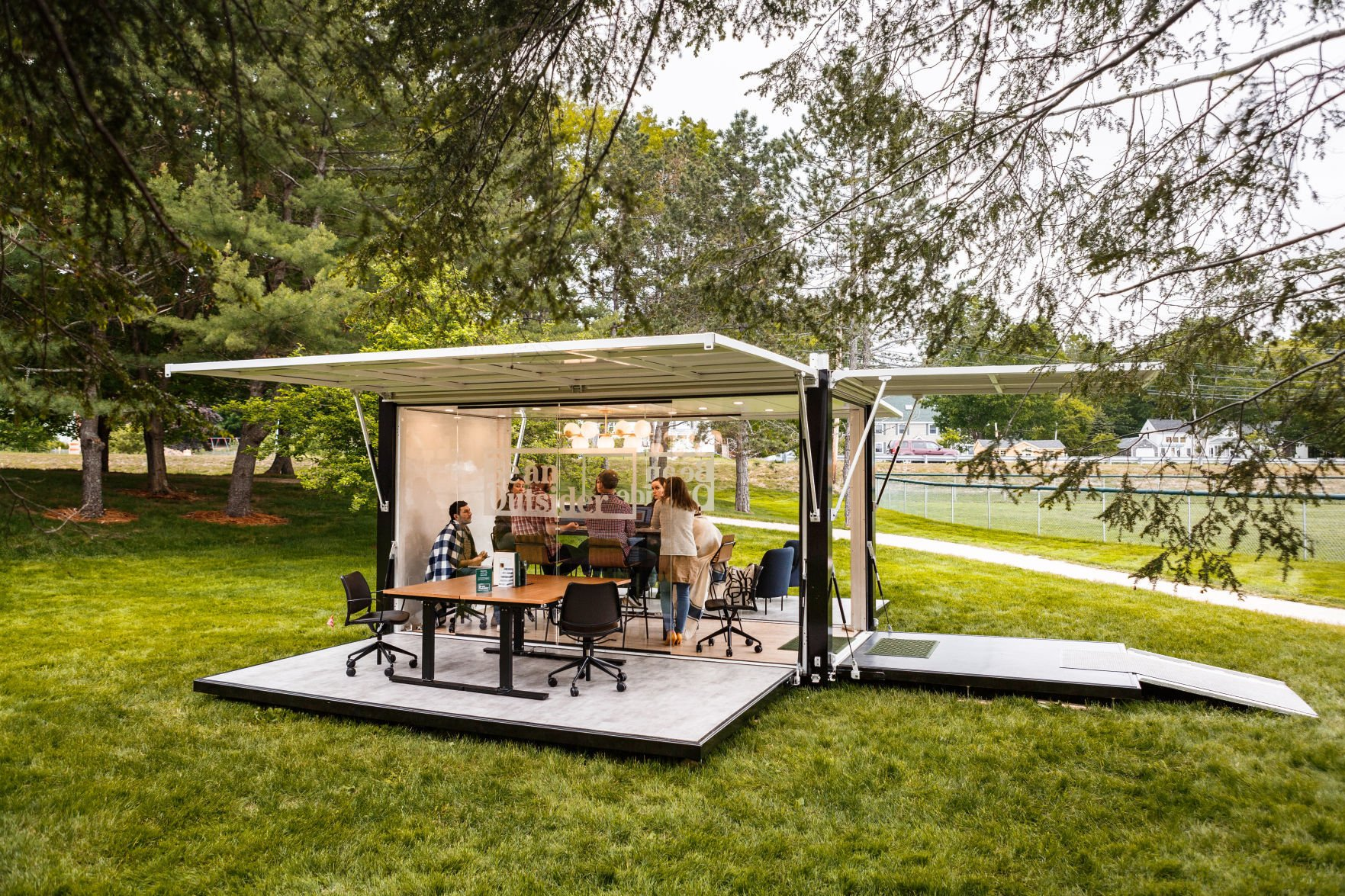 l l bean to bring outdoor office space to downtown madison rh madison com outdoor office spaces office space outside london
