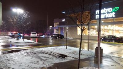 Metro Market shooting, parking lot scene