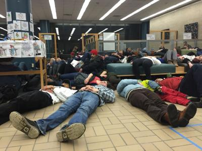Die-in photo