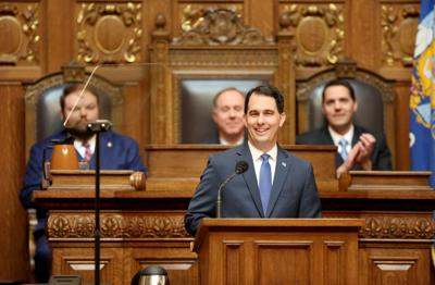 Scott Walker gives State of the State address