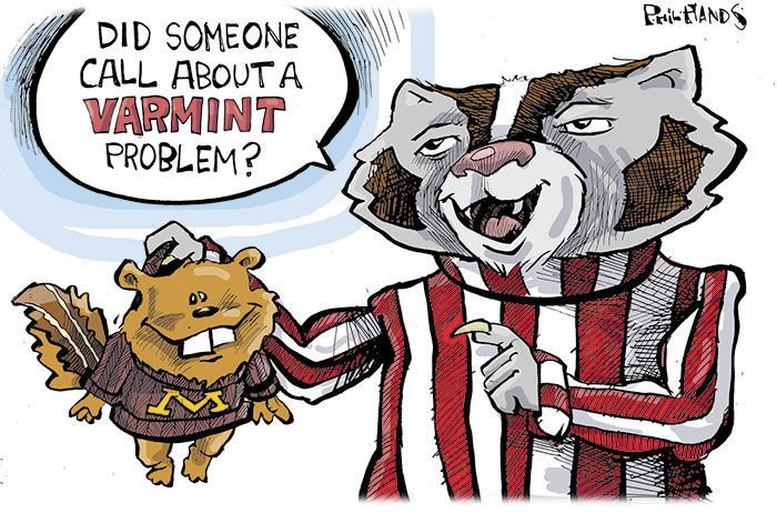 the wisconsin badgers football season in cartoons opinion