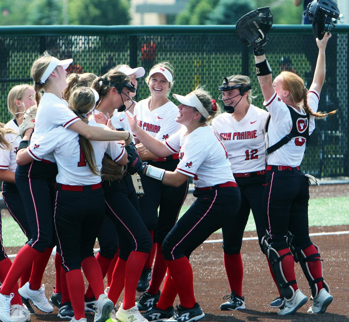 WIAA state softball photo: The celebration begins as Sun Prairie makes another state final