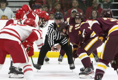 Badgers faceoff