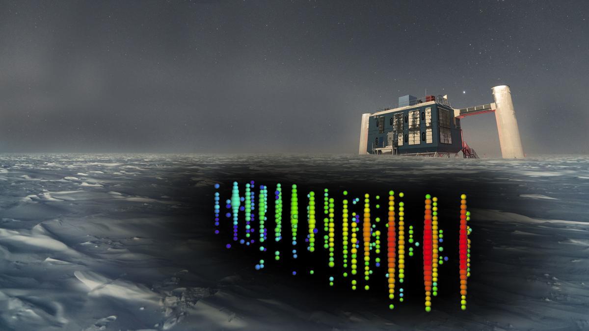 IceCube-Neutrino rendering