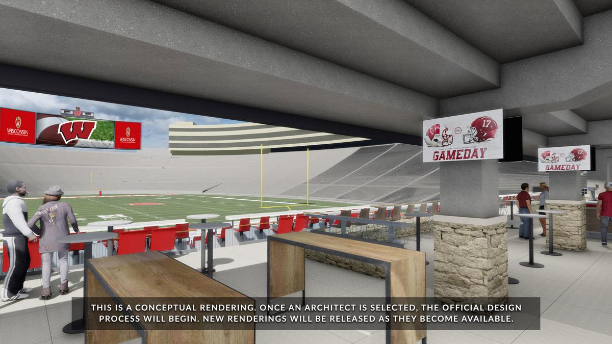 Camp Randall south end zone rendering 2
