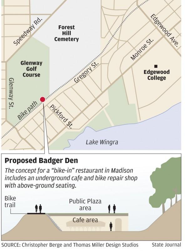 Map of proposed Badger Den