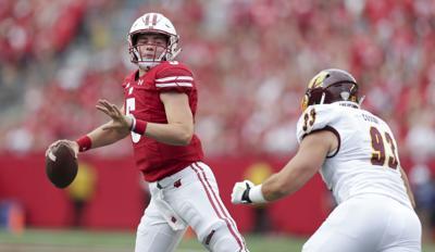 Graham Mertz against Central Michigan, State Journal photo