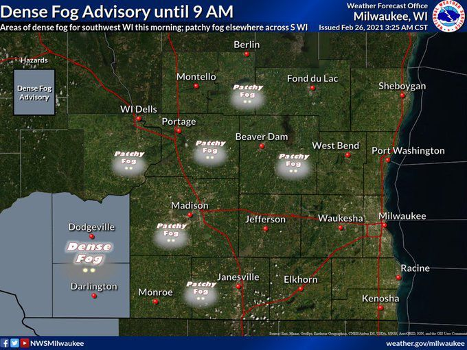 National Weather Service forecast 2-26-21