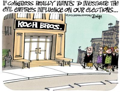 campaign finance cartoon