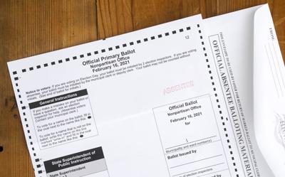 Feb. 16 absentee ballot