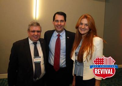 Russian agent Maria Butina with Scott Walker, Facebook photo