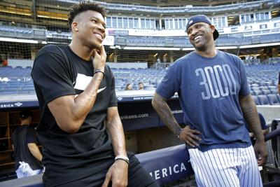 Giannis Antetokounmpo and CC Sabathia