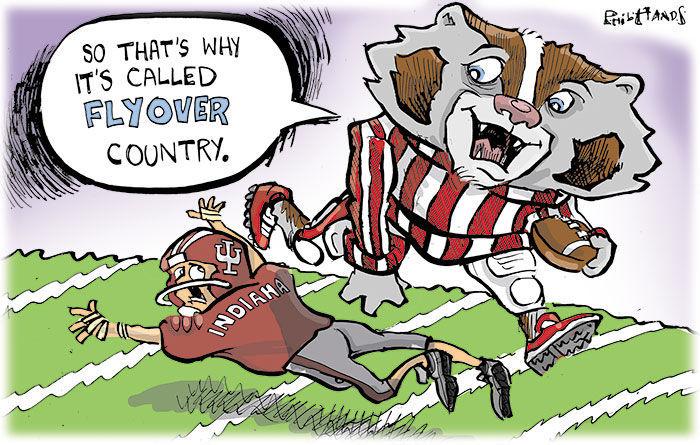 Bucky leaps over Indiana