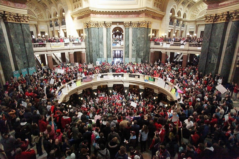 CAPITOL PROTESTS packed rotunda file photo