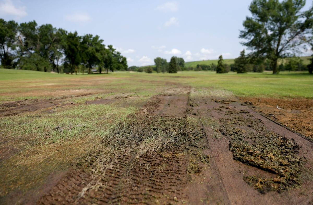 Yahara Hills' fairway is damaged and needs to be repaired