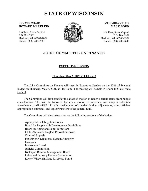 JFC budget motion