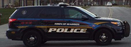 town of Madison squad car tight crop