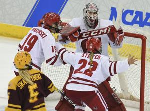 Most outstanding player Kristen Campbell has an NCAA tournament to remember for Wisconsin Badgers women's hockey team