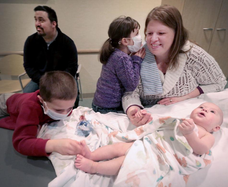 Kampka family at doctor visit