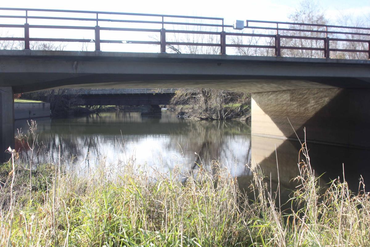 The Baraboo River at Reedsburg 2 with bridge