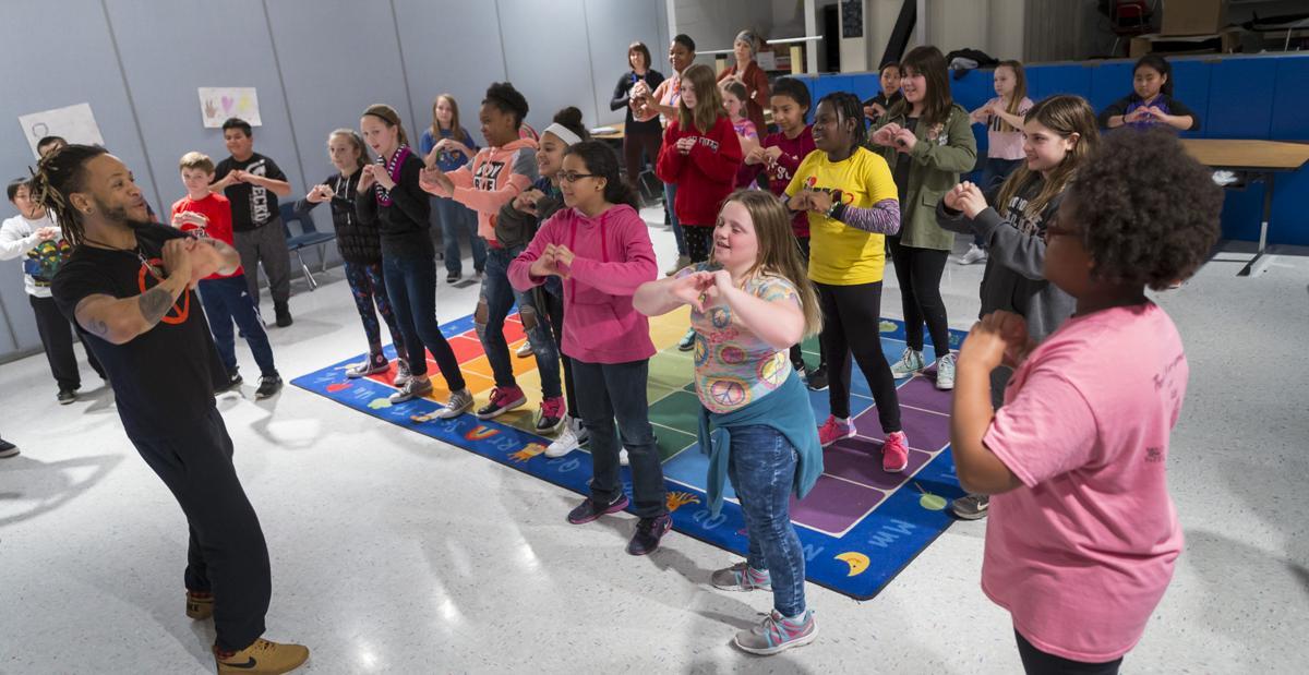 Mindfulness class at Bird Elementary School