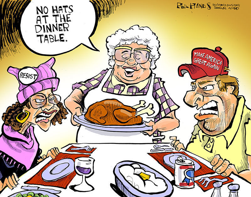 Hands on Wisconsin: Happy Thanksgiving | Opinion | Cartoon | madison.com