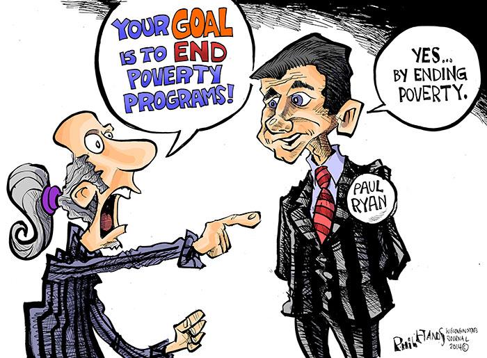 Hands Cartoon: Ryan's poverty plan