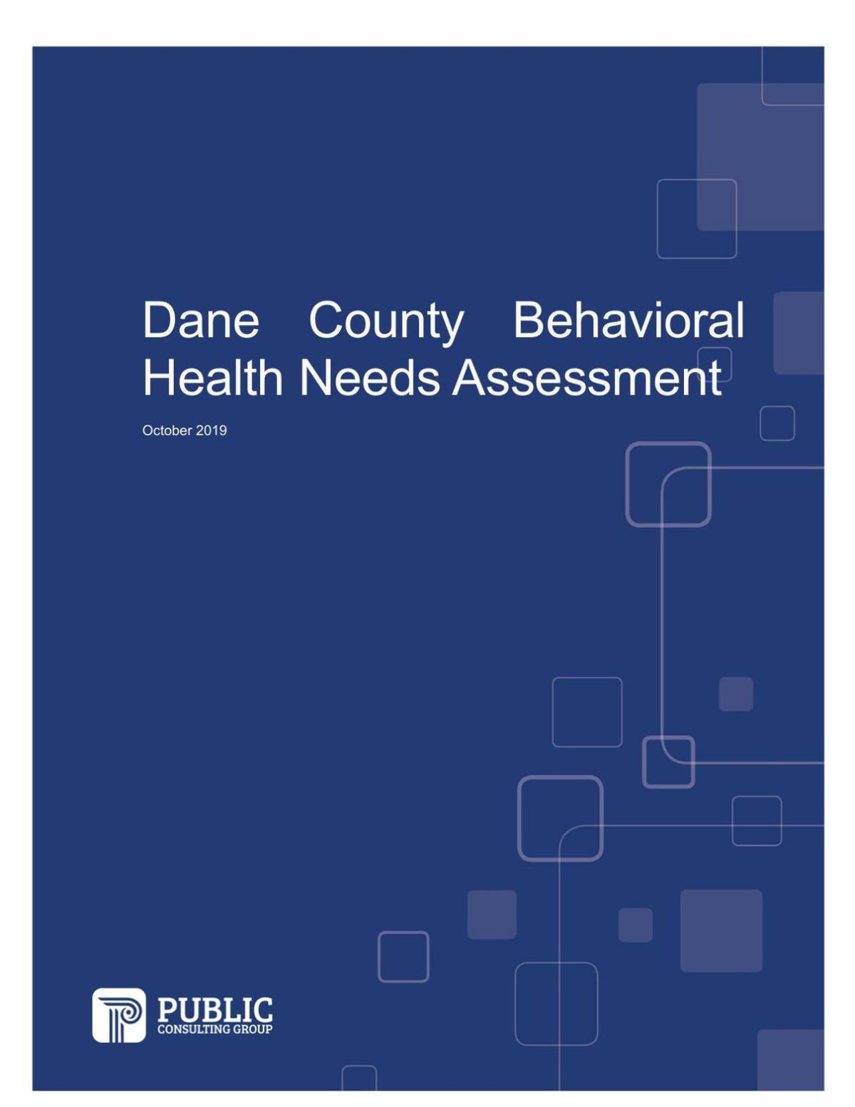 Dane County mental health survey