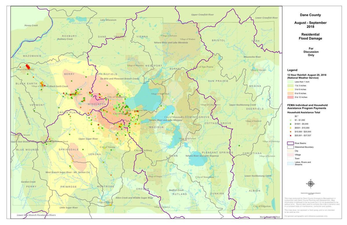 FEMA Residential Damage Claims Map
