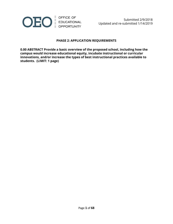 Arbor Community School application