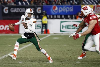 in wake of pinstripe bowl loss to badgers miami coach mark richt