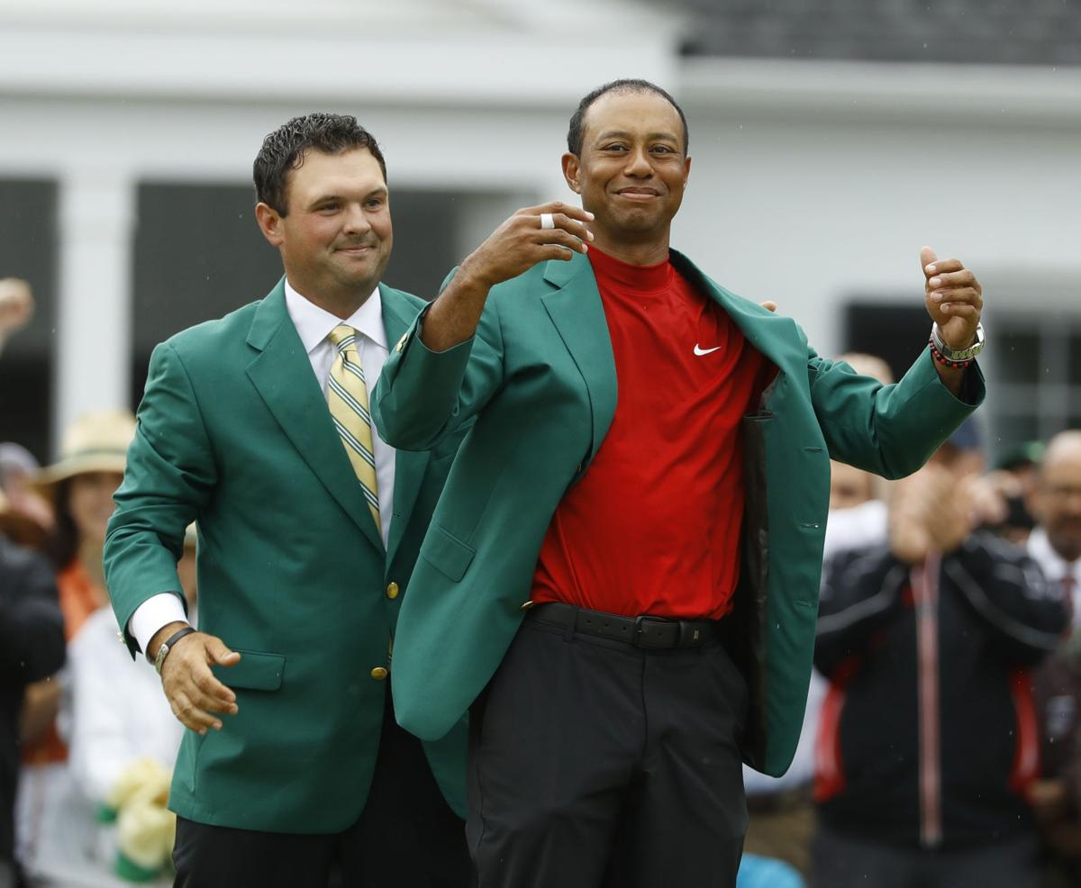 Tiger Woods green jacket 2019 Masters, AP generic file photo