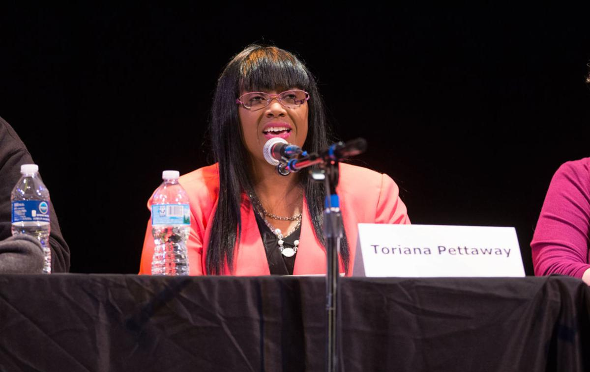 Toriana Pettaway at debate